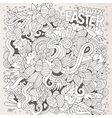 Easter sketch background vector image vector image