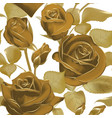 elegant seamless background with roses in sepia vector image vector image