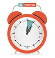 Five Minutes Stop Watch - Alarm Clock vector image vector image