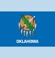 flag usa state oklahoma vector image