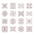 floral pattern collection vector image vector image