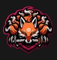 foxes mascot logo design vector image