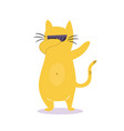 funny dabbing cat in sunglasses vector image vector image