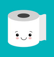 funny happy cute smiling toilet paper flat vector image vector image