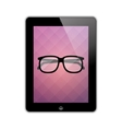 glasses on screen vector image