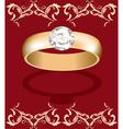 golden ring vector image