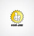 good job thumb up cartoon gesture hand sign vector image