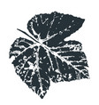 grape leaf print inkprinted leaves of the vector image