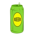 Green beer can icon cartoon style vector image vector image