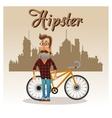 Hipster man cartoon design vector image
