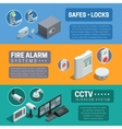 Home Security System Isometric Banners Set vector image vector image