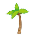 icon palm vector image