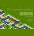 industrial logistics 3d isometric city vector image vector image