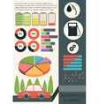 Infographics of a car vector image vector image