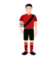 isolated soccer player avatar vector image