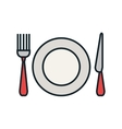 Kitchen dishware and utensil theme design vector image vector image
