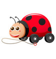 ladybug with wheels and string vector image