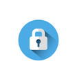 lock icon blue padlock protection and security vector image vector image