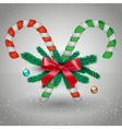 Merry Christmas candy with branches vector image vector image