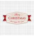 merry christmas greeting tag vector image vector image