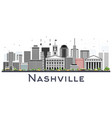 nashville tennessee city skyline with color vector image