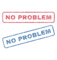 no problem textile stamps vector image vector image