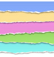 oblong layers of torn pastel color paper vector image vector image