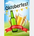 oktoberfest festive realistic poster vector image
