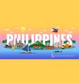 philippines horizontal vector image