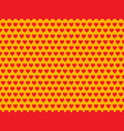 red heart shape pattern vector image vector image