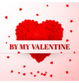 red valentines heart valentines composition vector image vector image