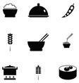 rice icon set vector image vector image