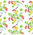 Rowan leaves and amanita mushroom seamless pattern vector image vector image