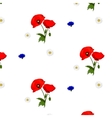 seamless pattern with chamomile cornflowers and vector image vector image