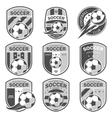 set football logos vector image