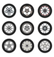 Set of car wheels with a different design