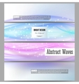 Set of modern banners Abstract wave vector image vector image