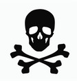 skull and bones - a sign of danger vector image