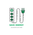 smart power socket with timer save energy vector image vector image
