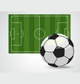 soccer field european football stadium court for vector image vector image