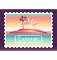 summer background with vector image vector image