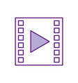 tape media player isolated icon vector image vector image