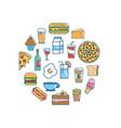 tasty food nutrition backgrou design vector image