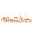 town life - modern thin line design style vector image