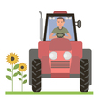 Tractor driver vector image vector image