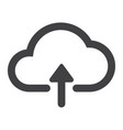 upload to cloud glyph icon web and mobile vector image vector image