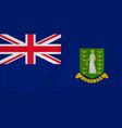 virgin islands waving flag vector image vector image