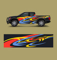 wrap graphic design for off road truck abstract vector image vector image