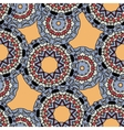 Indian ornament kaleidoscopic flora pattern vector image