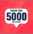 5k social media followers thank you poster design vector image vector image